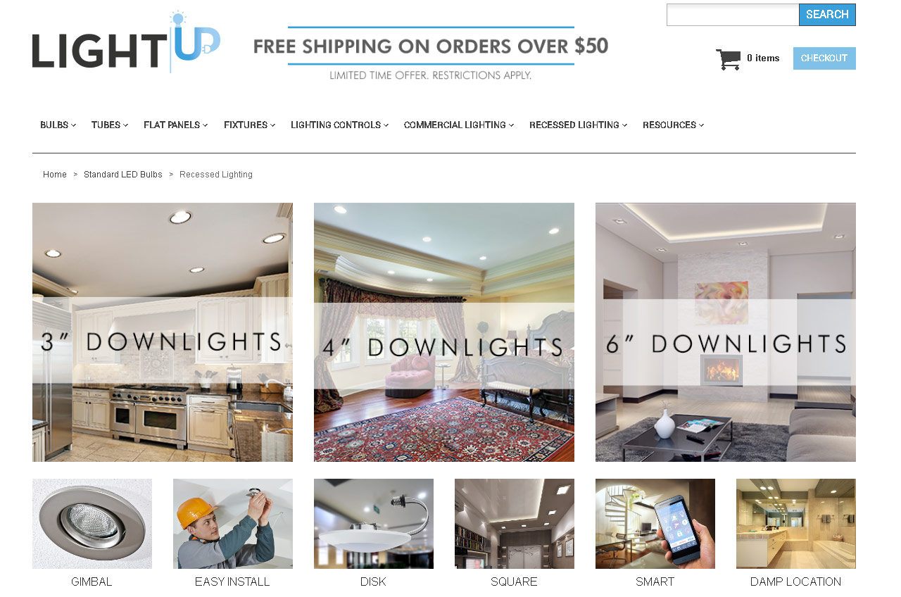 Recessed Lighting - What's New at LightUP.com